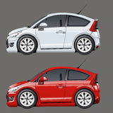 Cartoon vector cars Royalty Free Stock Photography