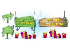 Cartoon vector christmas landscape object with separated layers for game and animation Royalty Free Stock Image