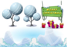 Cartoon vector christmas landscape object with separated layers for game and animation Royalty Free Stock Photography