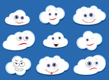Cartoon vector clouds Stock Image