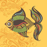 Cartoon vector colored fish Stock Photos