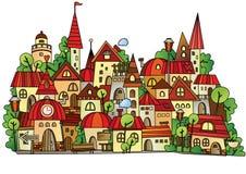 Cartoon vector construction town Royalty Free Stock Photo