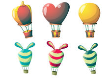 Cartoon vector cute balloons object with separated layers for game art and animation Royalty Free Stock Photography