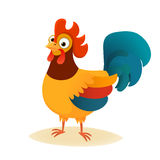 Cartoon vector cute character of cock, rooster Stock Photography