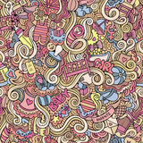 Cartoon vector doodle children seamless pattern Royalty Free Stock Images