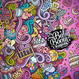 Cartoon vector doodles baby boom frame Royalty Free Stock Images