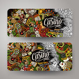 Cartoon vector doodles casino banners Royalty Free Stock Photo
