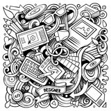 Cartoon vector doodles Design illustration Stock Photography