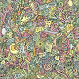 Cartoon vector doodles food seamless pattern Royalty Free Stock Image