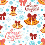 Cartoon vector doodles hand drawn New Year and Christmas seamless pattern Stock Photography