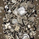 Cartoon vector doodles Pizza illustration Vector Illustration