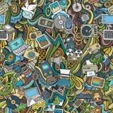 Cartoon vector Doodles social media, technical Royalty Free Stock Image