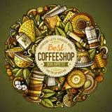 Cartoon vector doodles Tea illustration Stock Images