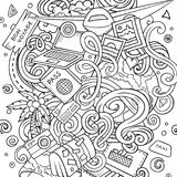 Cartoon vector doodles Travel illustration. Line art, detailed, with lots of objects background. All objects separate. Contour drawing traveling funny round Stock Images