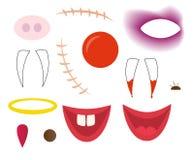 Cartoon face elements Royalty Free Stock Photo