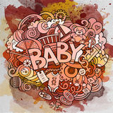 Cartoon vector hand drawn Doodle Baby illustration Stock Photo