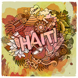Cartoon vector hand drawn Doodle Haiti illustration Royalty Free Stock Images