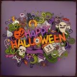 Cartoon vector hand drawn Doodle Happy Halloween Royalty Free Stock Photography