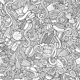 Cartoon vector hand-drawn Doodles on the subject Royalty Free Stock Image