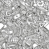 Cartoon vector hand drawn Doodles on the subject Royalty Free Stock Image