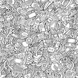 Cartoon vector hand-drawn Doodles on the subject Stock Image