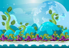 Cartoon vector heaven landscape with separated layers Royalty Free Stock Photo