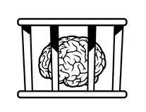 Brain in jail Stock Images