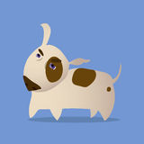 Cartoon Vector Illustration of Bull Terrier Dog Stock Image