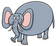 Funny elephant animal cartoon character. Cartoon Vector Illustration of Cute Funny Elephant Animal Character Stock Photography