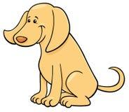 Cute happy dog cartoon character royalty free illustration