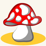 1115_17 cartoon. Cartoon vector Illustration of cute mushroom Stock Photography