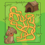 Cartoon Vector Illustration of Education Maze or Labyrinth Game for Children Stock Photos