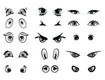 Cartoon vector illustration eyes collection Stock Photography