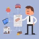 Cartoon vector illustration for financial Stock Photos