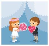 Cartoon Vector Illustration For Wedding, Valentine S Day. Stock Image