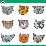 Funny cats heads set cartoon illustration. Cartoon Vector Illustration of Funny Cats or Kittens Heads Set Royalty Free Stock Photo