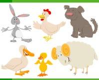 Cartoon farm animal characters set. Cartoon Vector Illustration of Funny Farm Animal Characters Collection stock illustration