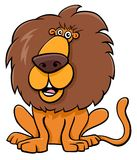 Funny lion animal character cartoon illustration Royalty Free Stock Photos