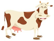 Happy spotted cow farm animal character Royalty Free Stock Photos