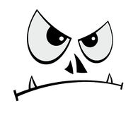 Evil face Stock Photo