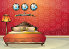 Cartoon vector illustration interior chinese room with separated layers Stock Images