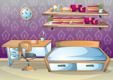 Cartoon vector illustration interior kid room with separated layers Royalty Free Stock Photography