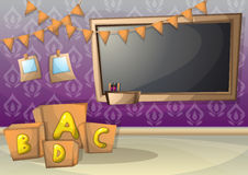 Cartoon vector illustration interior kid room with separated layers Royalty Free Stock Images