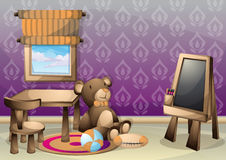 Cartoon vector illustration interior kid room with separated layers Stock Photo