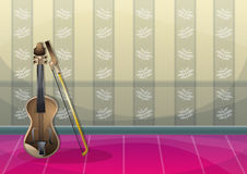 Cartoon vector illustration interior music room with separated layers. In 2d graphic Stock Image