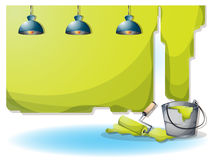 Cartoon vector illustration interior painting wall with separated layers Stock Photography