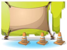 Cartoon vector illustration interior painting wall with separated layers Royalty Free Stock Image