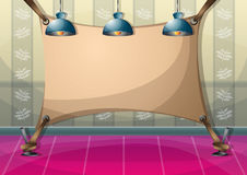 Cartoon vector illustration interior painting wall with separated layers Stock Photo