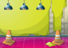 Cartoon vector illustration interior painting wall with separated layers Stock Image
