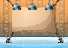 Cartoon vector illustration interior painting wall with separated layers Royalty Free Stock Images